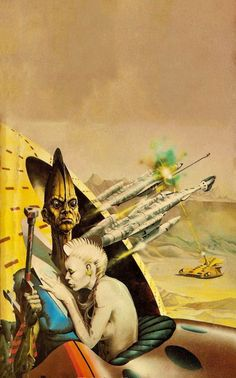 PETER ANDREW JONES - art for Clans of the Alphane Moon by Philip K. Dick - 1975 Panther paperback