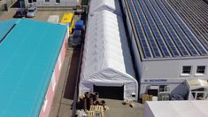 Economical and durable storage tents ✓ Cost reduction by self assembly ✓ Industry quality for sustainable use ✓ Free construction drawings and structural calculations Pvc Fabric, Construction Drawings, Scaffolding, Galvanized Steel, Sustainability, Skyscraper, Multi Story Building, Outdoor Decor, Rolling Scaffold