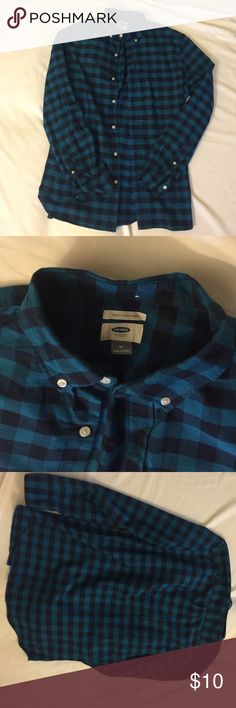 Old Navy New Slim Fit M Plaid Oxford Pacific Rim New never worn Old Navy Shirts Casual Button Down Shirts