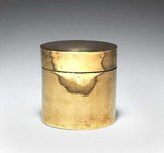 Anonymous; Brass Lidded Container by Bauhaus, c1926.
