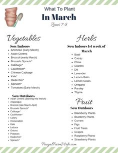 growing potatoes Wanting to get your gardening started but not sure what to plant in March? Get the answers you need below. I live for spring gardening, and March is one of my favorit