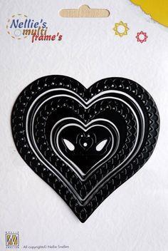 () blad-6Nellies Multi Frame Die MFD022 Heart