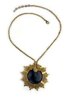 """Wire Wrap Necklace: """"Inka sun"""""""