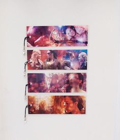 Ultimate Clexa 1, Lexa and Clarke, The 100, 4 laminated bookmarks