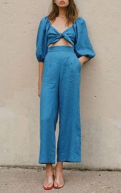 Mara Hoffman chambray jumpsuit