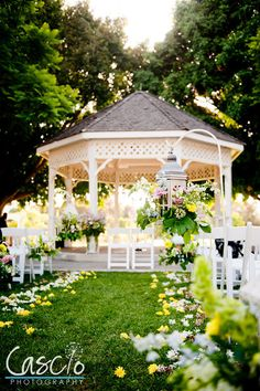 It'd be so pretty it have a gazebo for our wedding and decorate it with flowers and stuff. Wedding Bells, Wedding Ceremony, Our Wedding, Wedding Flowers, Wedding Venues, Dream Wedding, Wedding Gazebo, Gazebo Wedding Decorations, Gazebo Ideas