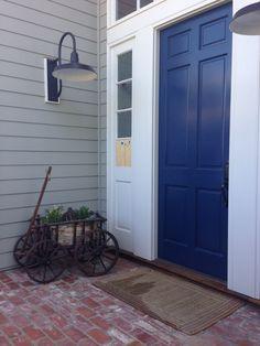 A welcoming blue door