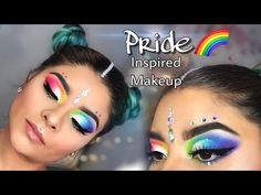 PRIDE Rainbrow Inspired Makeup   Pride Month - YouTube