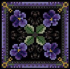 Free cross stitch patterns-- perfect for expanding my hoopla wall! Biscornu Cross Stitch, Cross Stitch Pillow, Simple Cross Stitch, Cross Stitch Flowers, Beaded Embroidery, Cross Stitch Embroidery, Embroidery Patterns, Cross Stitch Designs, Cross Stitch Patterns