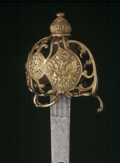 English cavalry officer's sword, c1730s
