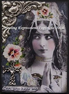 CAN YOU HEAR ME altered art faith collage by HealingExpressions, $4.99