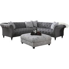 Found it at Joss & Main - Sally Tufted Sectional Sofa Tufted Sectional Sofa, Living Room Sectional, New Living Room, Home And Living, Living Room Decor, Small Sectional, Best Sectionals, Sofa Shop, Diy Bed