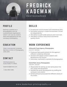 free online resume maker canva inside online resume templates png     Gray Photographer Modern Resume