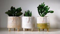 If I were a succulent, I'd want to live here. made by Atelier Stella Ceramic Pottery, Ceramic Art, Indoor Garden, Indoor Plants, Ceramic Planters, Planter Pots, Plantas Indoor, Pottery Classes, Diy Décoration