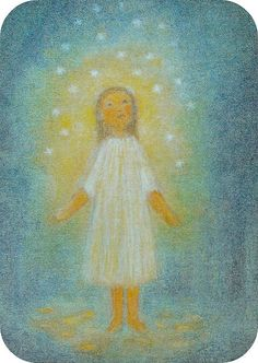 Advent ~ Week Four: The Light of Humankind ~ The Star Money ~ postcard by Ruth Elsässer