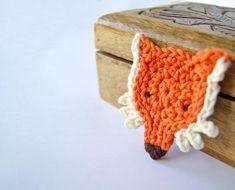 Crocheted Fox Head Applique
