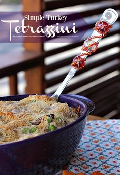Simple Turkey Tetrazzini! Perfect for Thanksgiving left overs.