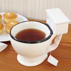 toilet-shaped coffee mug!