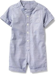 Striped Chambray One-Piece for Baby