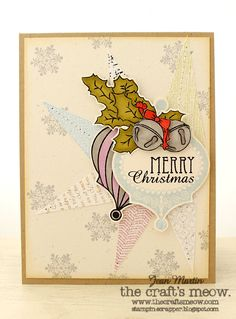 Stampin Scrapper: The Craft's Meow  also Vintage Ornament and Vintage Snowflakes