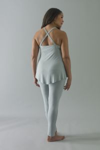 Lotus Yoga Top £46. The Lotus top is a dipped hem cross backed top with an empire line cut, The neckline ...