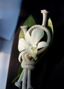 use of nautical rope in boutonniere