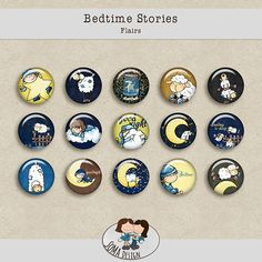 SoMa Design: Bedtime Stories - Flairs Bedtime Stories, Digital Scrapbooking, Kit, Design