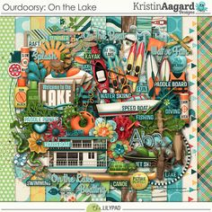 Outdoorsy: On the Lake - Digital Scrapbooking Kit 	by Kristin Aagard Designs