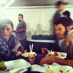 Casual lunch. you know just eating with a werewolf and kanima... you know; the usual...