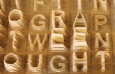 Alphabet mapped in 3D aka topographic typography