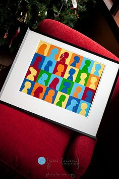 For a more modern take on student silhouettes, check out Judith Fernstrom's photography blog. The colorful, framed project is sure to generate excitement at an auction. Source: Jennifer Fernstrom Photography