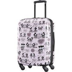 American Tourister Disney Mickey and Minnie Romance Hardside Carry On Luggage with Spinner Disney Luggage, Kids Luggage, Luggage Sets, Travel Luggage, Toddler Luggage, Disney Travel, Hand Luggage, Mickey Minnie Mouse, Viajes