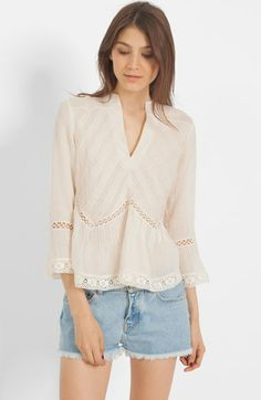 maje Lace Peasant Top available at #Nordstrom