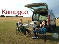 Kampgoo in the lack Kangoo Camper, Mini Camper, Van Life, Four Square, Vehicles, Car, 2 Photos, Camping Ideas, Campers