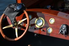 """Morgan replica of """"Nuisance"""" dashboard. She is powered with a supercharged 454 Chevrolet"""