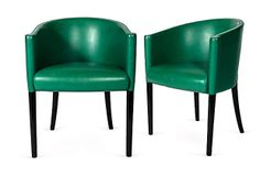 1970s Moroso Leather Chairs, Pair