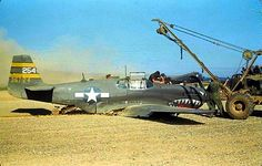 A crash landed razorback P-51B Mustang during WWII being recovered by crews. Ww2 Aircraft, Military Aircraft, P51 Mustang, Air And Space Museum, Us Army, World War Two, Military Vehicles, Wwii, Fighter Jets