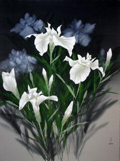 "Original Painting ""Royal Iris"" by David Lee"