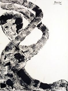 Wake up with the blinds blankets, ink on shimmed paper, 1983, 77x57 cm