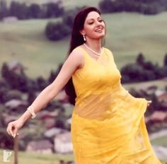 """Remembering The Iconic, Eternal Beauty who passed away on Feb 2018 Indian Actress Hot Pics, Indian Bollywood Actress, Beautiful Bollywood Actress, Most Beautiful Indian Actress, Bollywood Fashion, Indian Actresses, 90s Fashion, Indian Fashion, Yellow Saree"