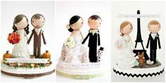 custom wedding cake topper. $150.00, via Etsy.
