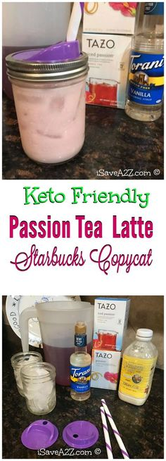 Keto Passion Tea Latte! This is a sugar free copycat recipe of Starbuck's Passion Tea Latte. It is delicious, very low in carbs, and unlike the real thing, contains no sugar.