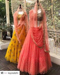 Attending Sangeet Soon? Shop These Inspired Hand Work Lehenga Cholis By Aynaa 👗 Lehenga Designs, Lehenga Style Saree, Sari, Indian Lehenga, Anarkali, Indian Bridal Wear, Indian Wear, Bridal Lehngas, Dress Indian Style