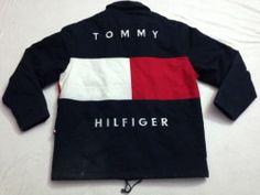 USED...$249.99   Vtg 90s Tommy Hilfiger Colorblock Sailing Gear Jacket Sz XXL Very Rare Hip Hop