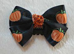 LovelyLake Halloween Pumpkin Bow  on a baby clip  by LovelyLake, $5.00