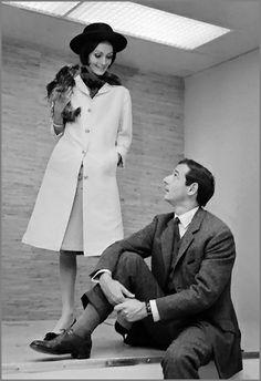 Marc Bohan Norman Hartnell, Fashion Maker, People Poses, Diana Vreeland, Tweed Coat, Black N White, Fur Trim, Karl Lagerfeld, Black Boots