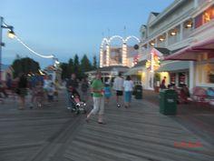 Disney's BoardWalk at Walt Disney World in the evening.