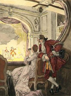 Auguste Leroux - Box at the Opera House Parma