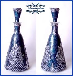 новые работы – 198 фотографий Jar Crafts, Bottle Crafts, Vases, Newspaper Crafts, Mandala Painting, Champagne Glasses, Bottle Art, Decoupage, Projects To Try