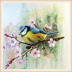 5D DIY  mosaic diamond embroidery bedroom  diamond paste diamond painting cross stitch square needlework bird in the tree #Affiliate